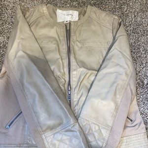 Maurices Tan/Grey Pleather Jacket